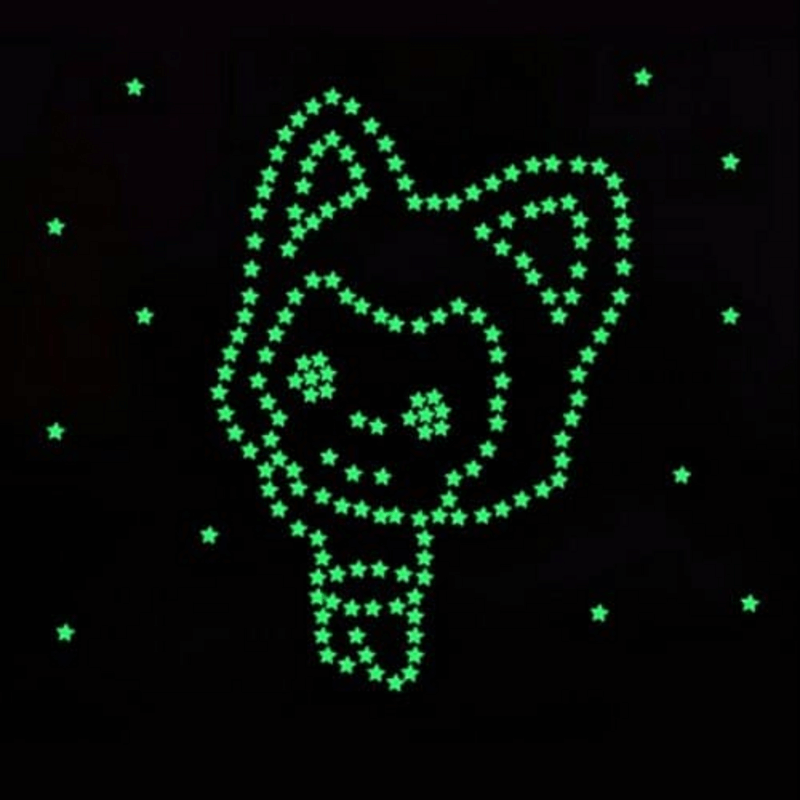100 Pcs Glow In The Dark Stars Wall Stickers