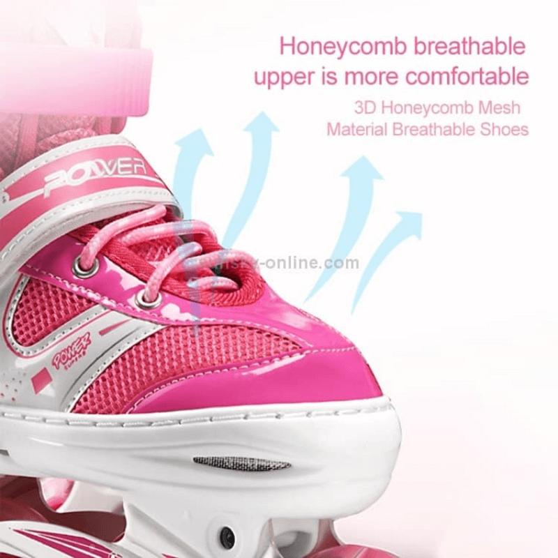 Adjustable Skate Shoes with Helmet Knee Brace