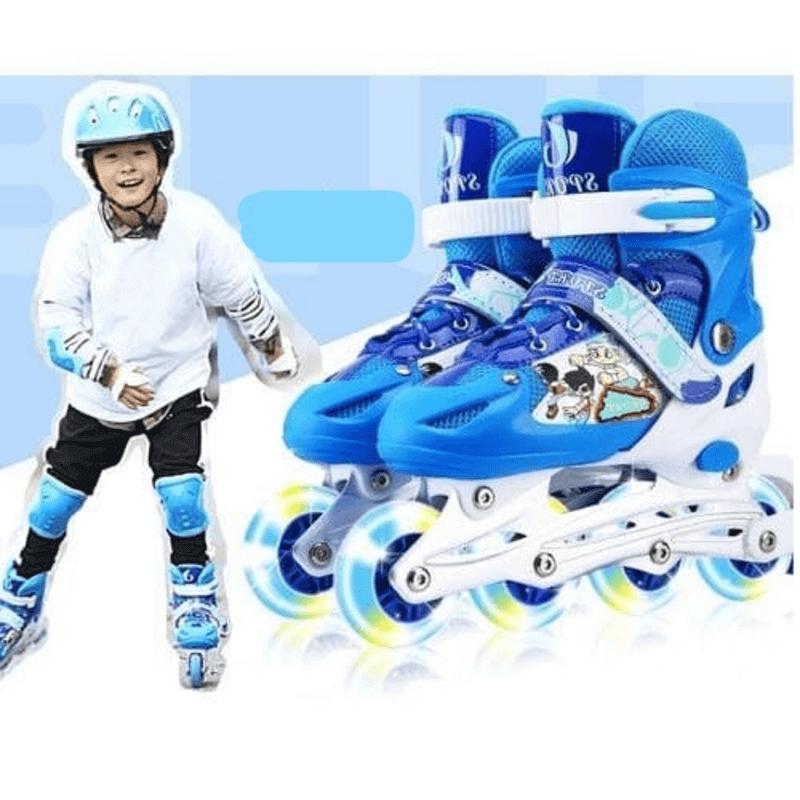 adjustable-skate-shoes-with-helmet-knee-brace