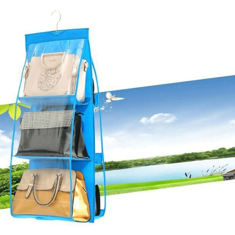 Thick Double-Sided Six Grid Storage Bag