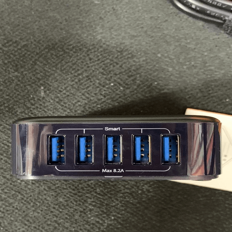 MEIYI MY-502 black five-port 3.0 Blue USB power adapter