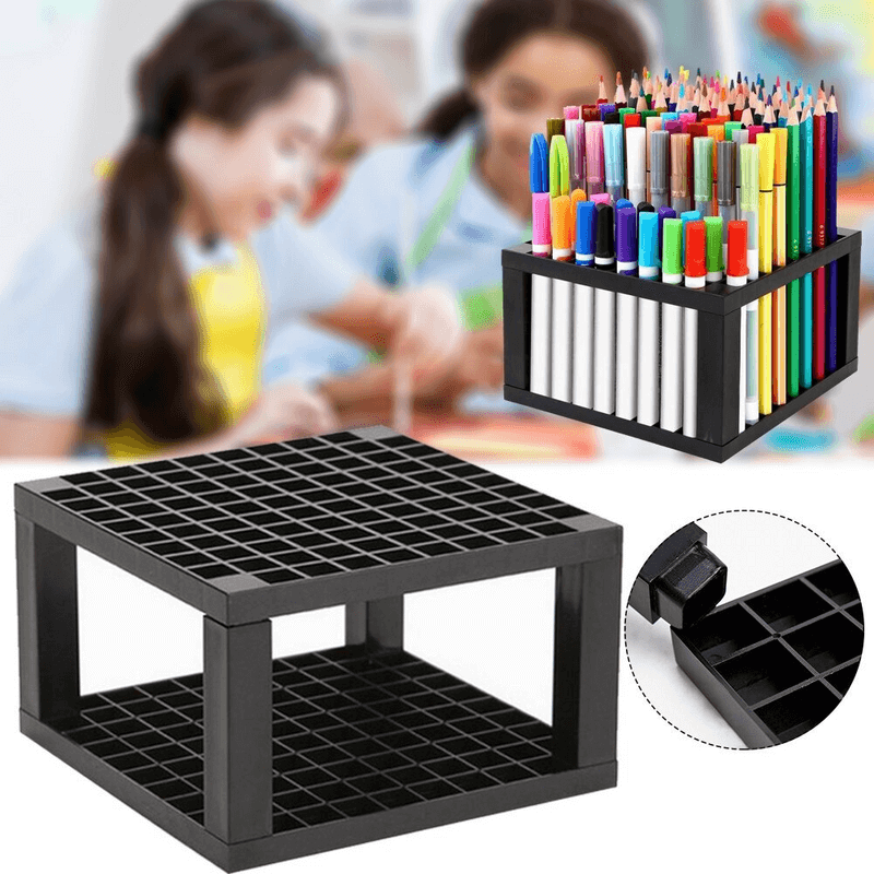 markers-brush-96-hole-desk-stand-pencil-holder
