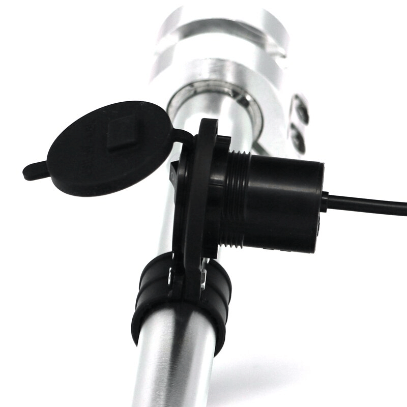 Motorcycle Electric Bicycle Handlebar Waterproof USB Charger For Phone