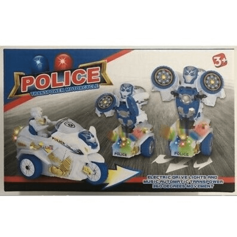 Police Transpower Motorcycle- Bike toy