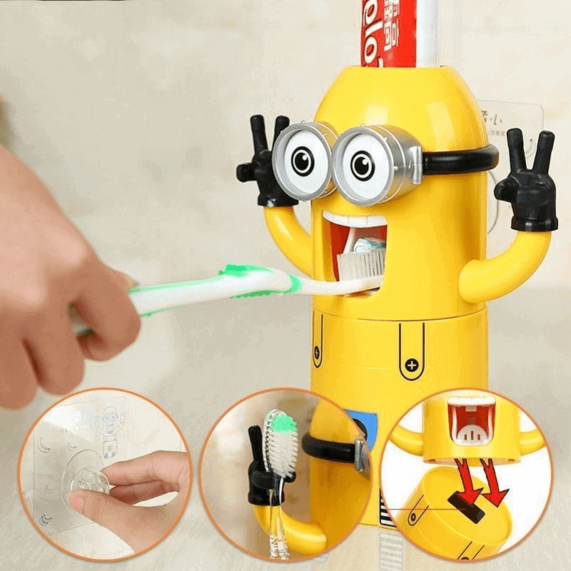 minion-tooth-paste-dispenser-with-2-brush-holder
