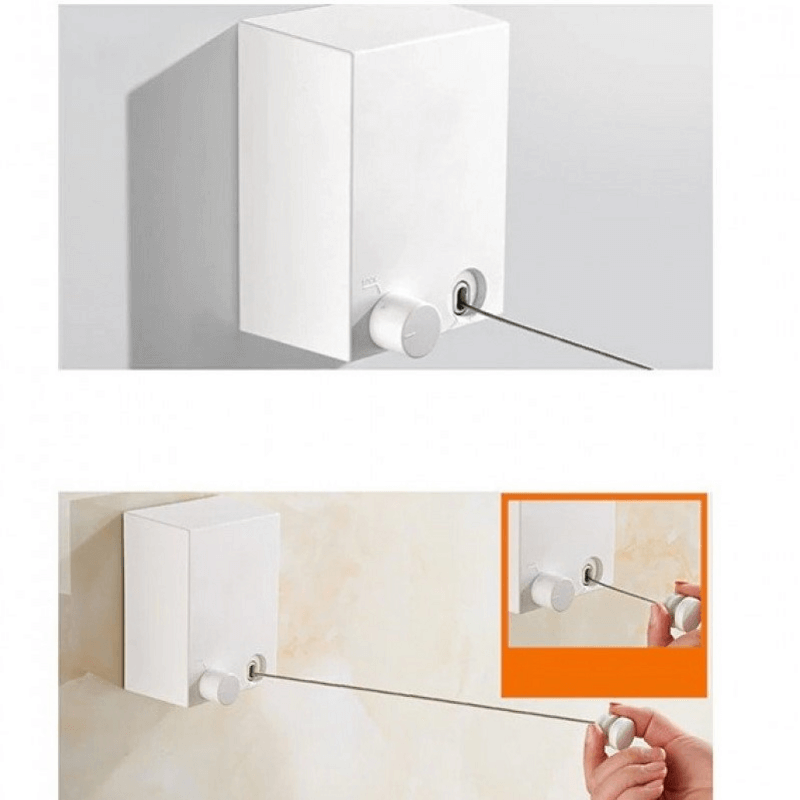 Wall Mounted Retractable Clothesline 4.2m