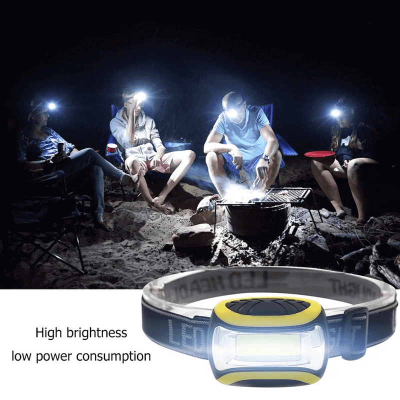 Mini Headlight 3 Modes LED Flashlight Waterproof