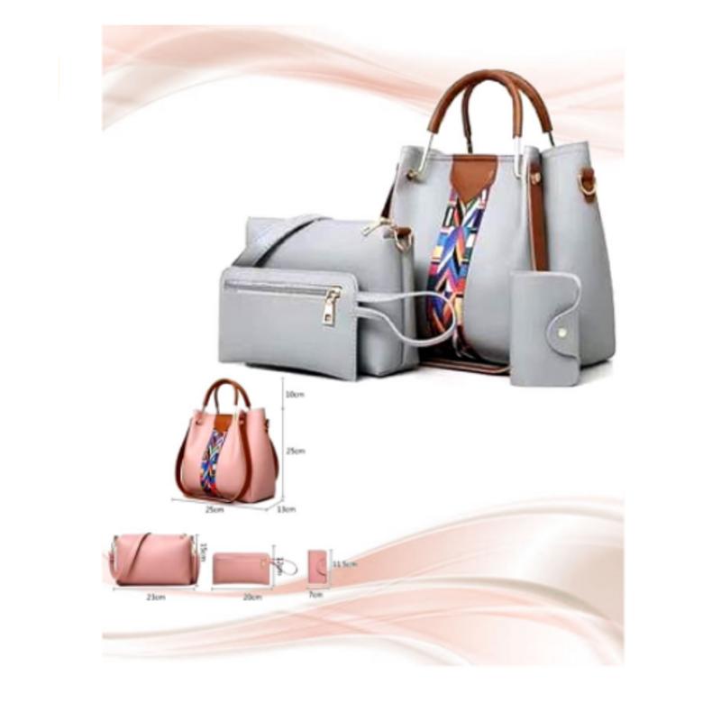 stylish-grey-leather-handbag-4pcs-set