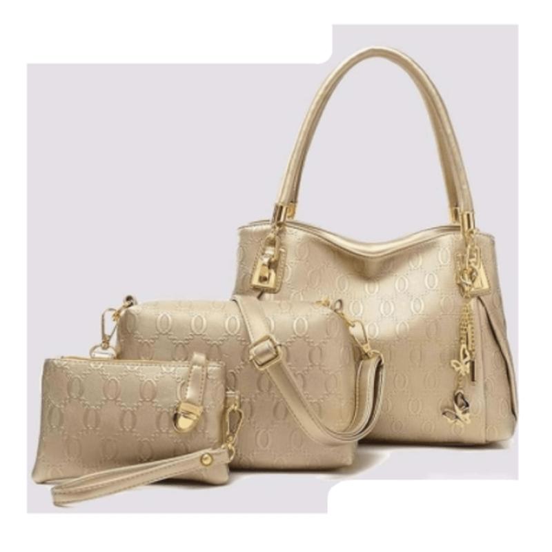 golden-leather-handbag-set-3pcs