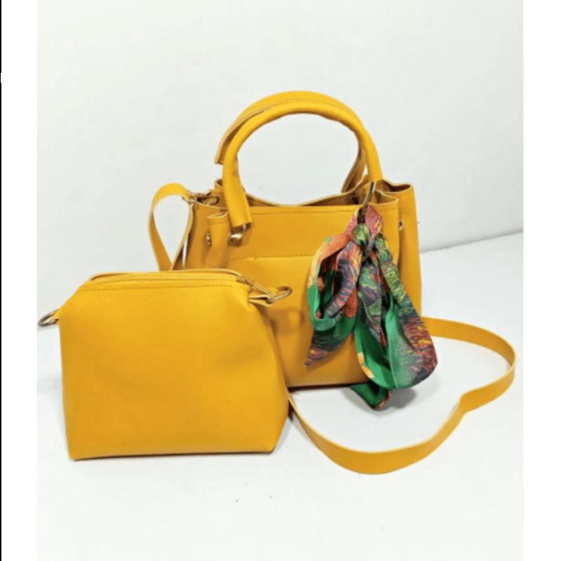 stylish-yellow-leather-hand-bag-set-a-5350