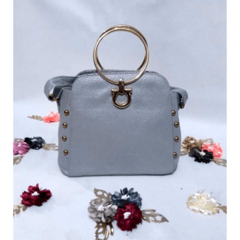gold-handle-shiny-grey-leather-handbag-a5046