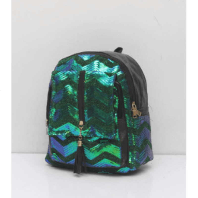 stylish-pattern-green-glittered-backpack-u-6037