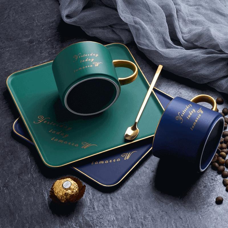 luxurious-ceramic-mug-saucer-set-with-spoon