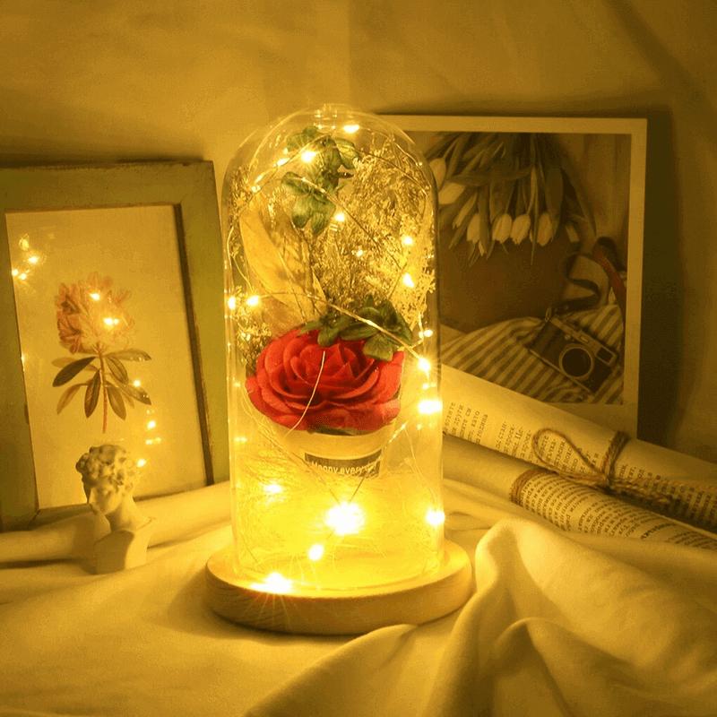 led-night-light-artificial-rose-string-light