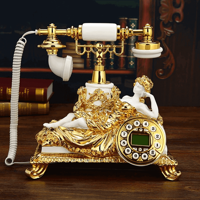 vintage-golden-landline-corded-retro-telephone