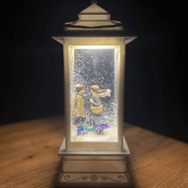 snow-globe-with-lantern-shaped-lights-and-music