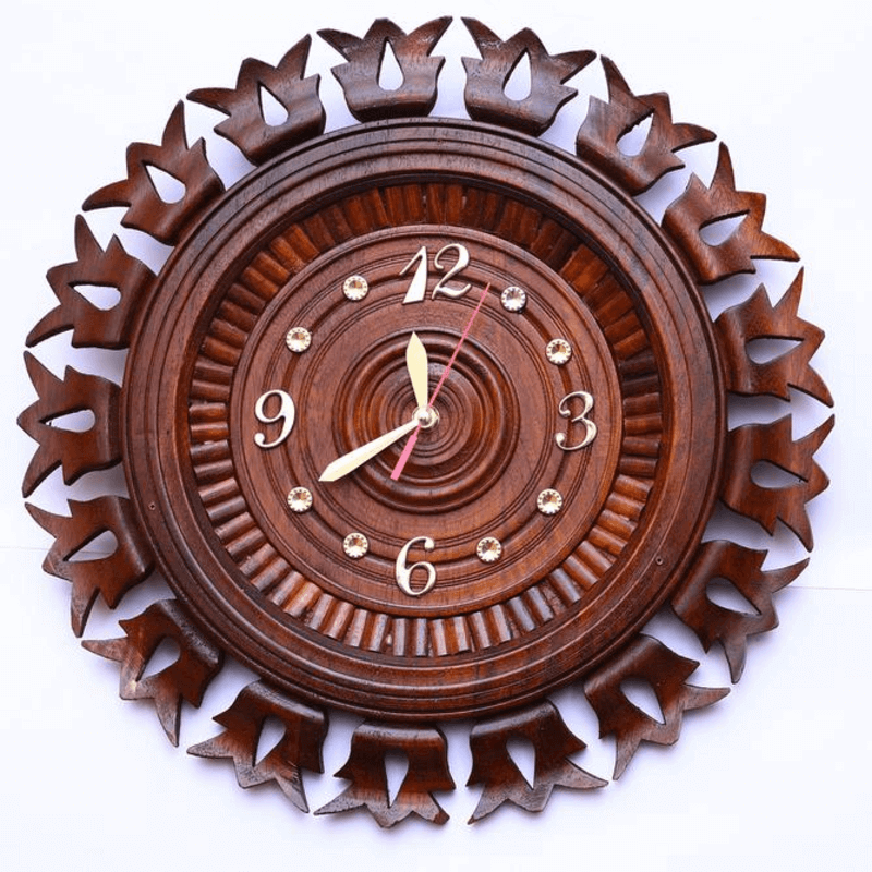 wooden-clock-16-inch-cubbyhole-style