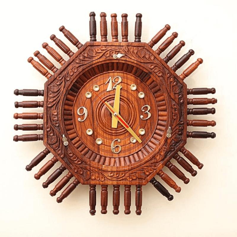 wooden-clock-16-inches-hexagonal-shape