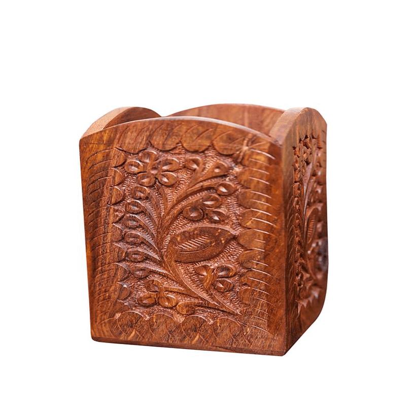 wooden-pen-holder-round-brass-engraving