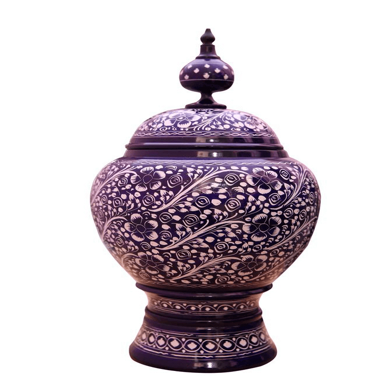candy-jar-wooden-blue-pottery-style