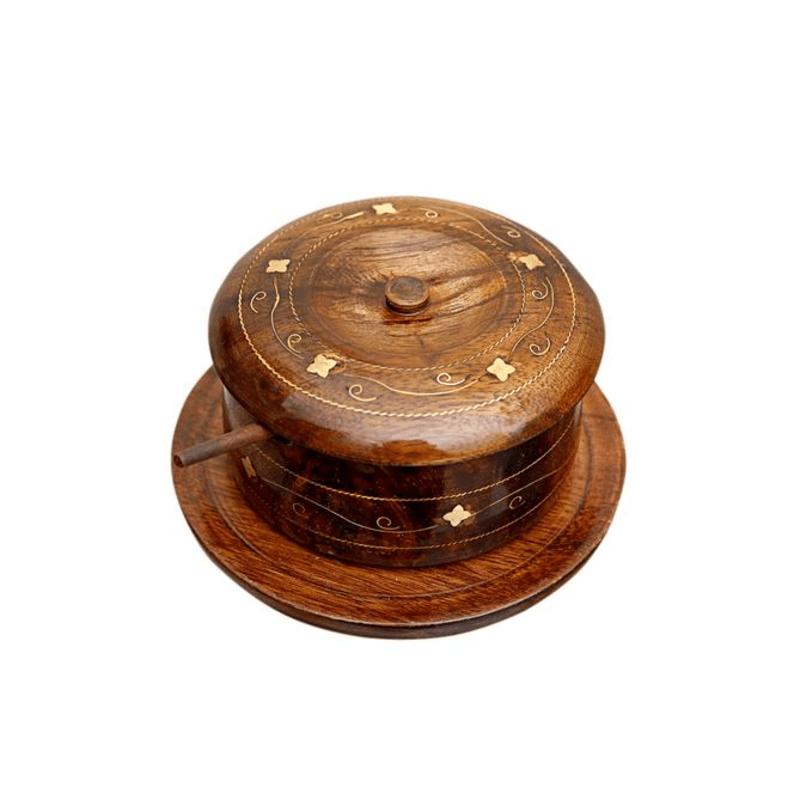 wooden-sugar-pot-brass-engraved