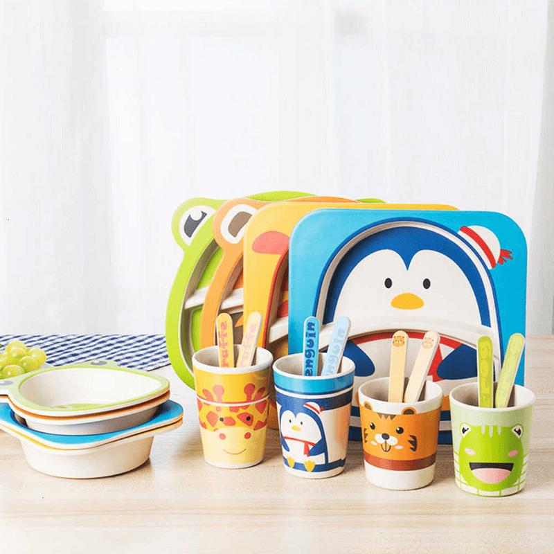 5-pcs-baby-tableware-set-multiple-designs