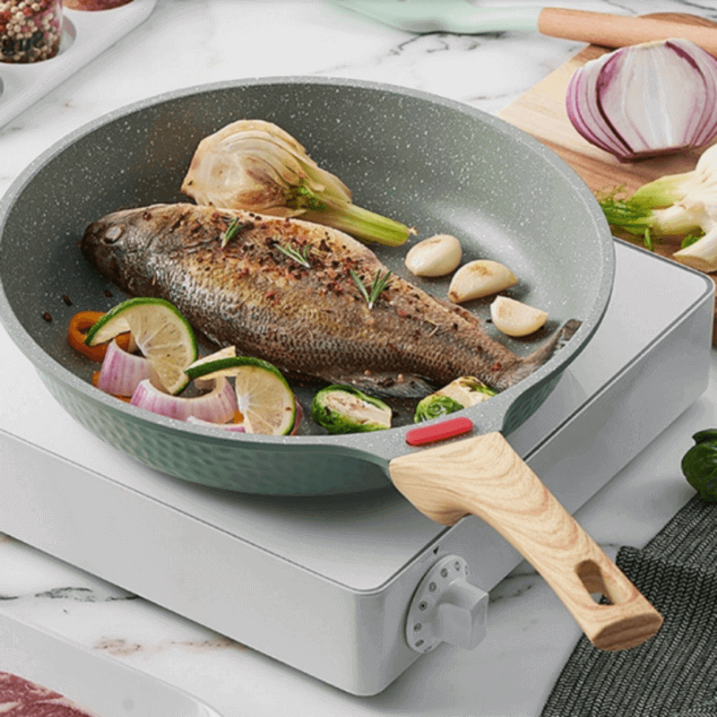 non-stick-frying-pan-with-wooden-handle
