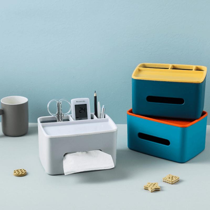 desktop-tissue-box-and-organizer