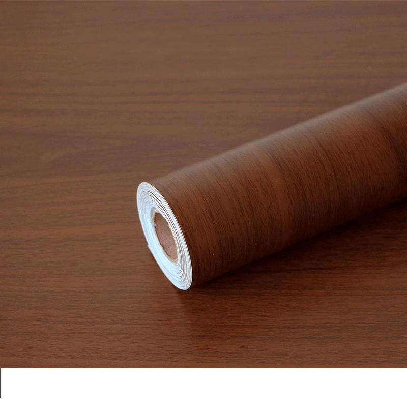 furniture-stickers-pvc-wallpaper-brown-wood