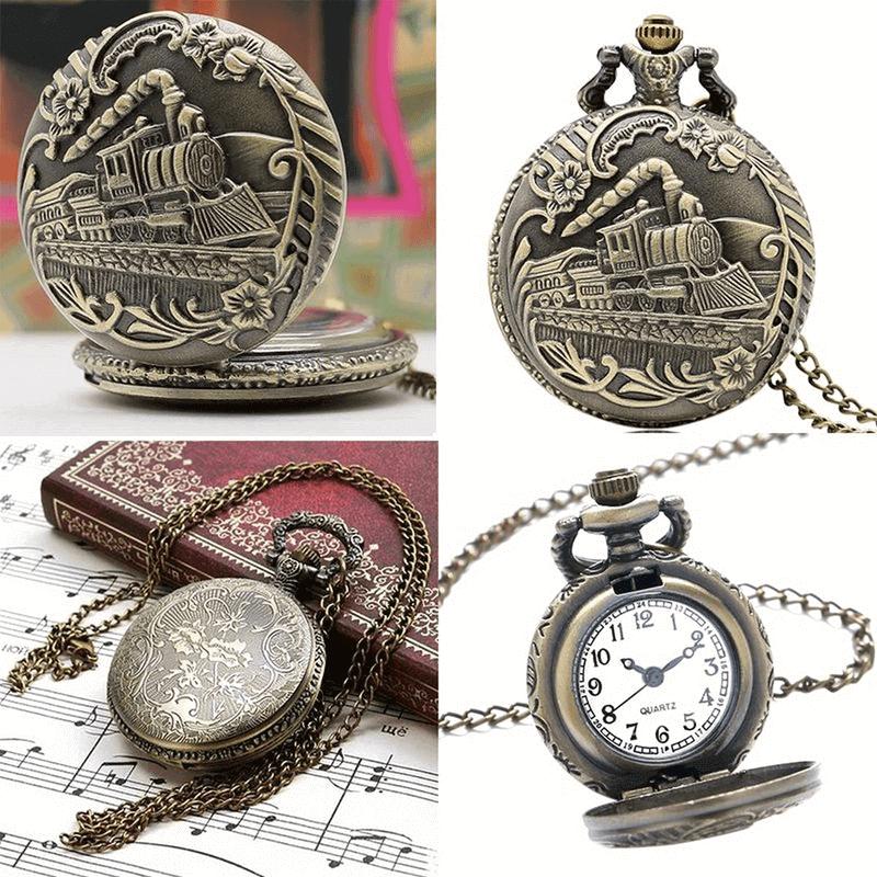 antique-train-design-pocket-watch-with-chain