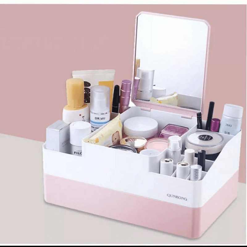 cosmetic-storage-box-with-makeup-mirror