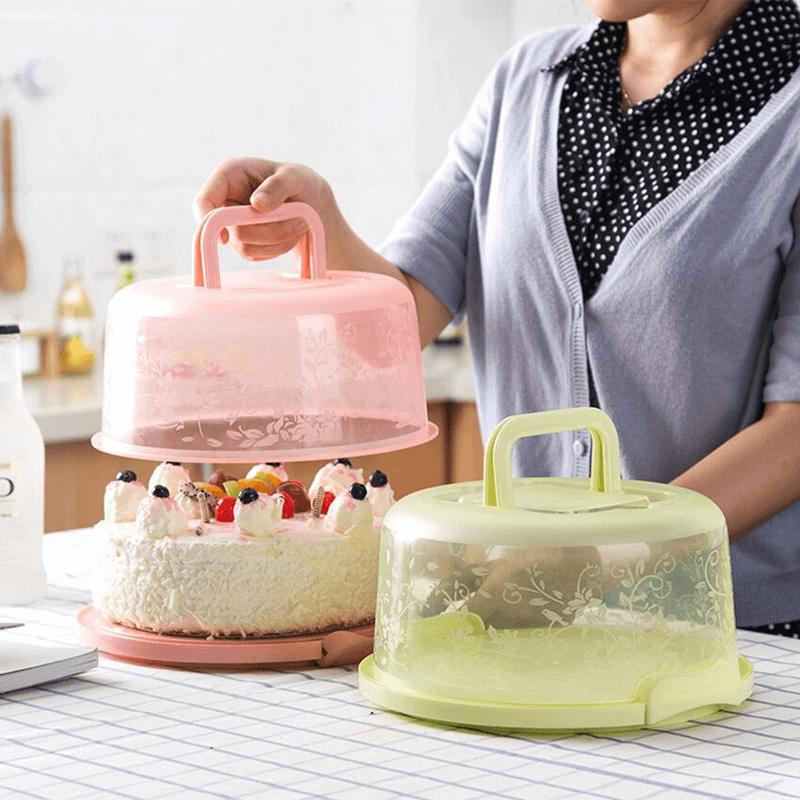8-inch-plastic-handheld-round-cake-storage-box