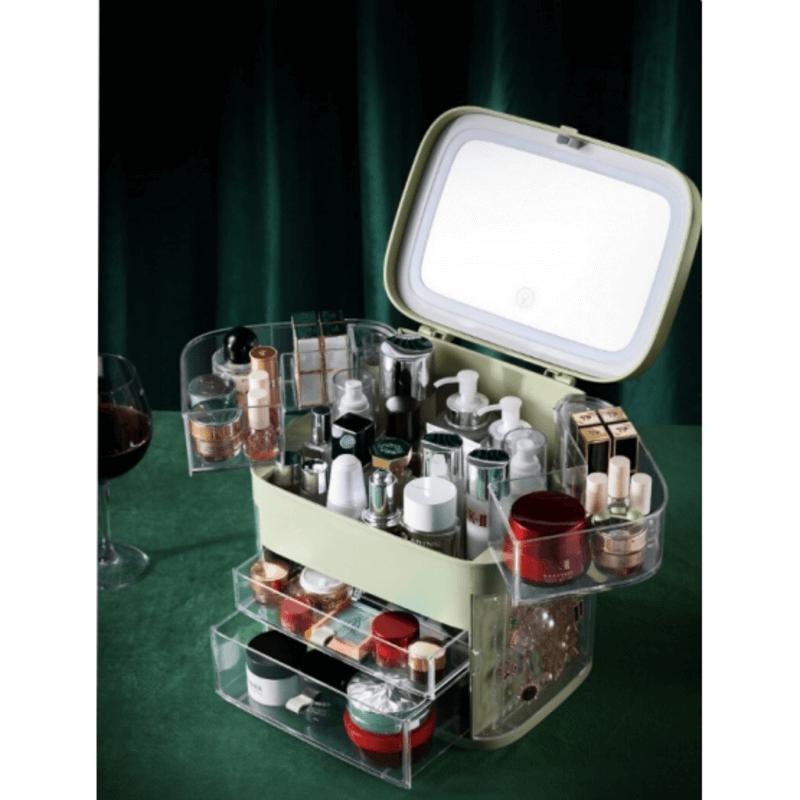 multiple-drawer-makeup-organizer-with-mirror