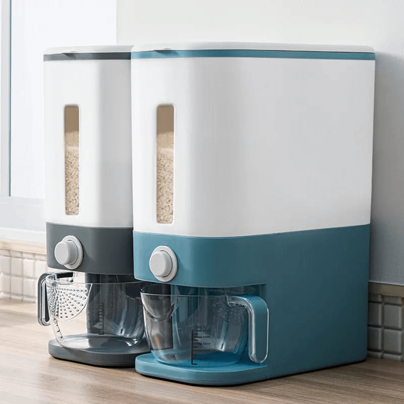 rice-dispenser-with-measuring-cup