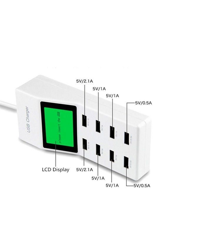 A-R-Accessories-8-USB-Hub-with-Digital-Meter---Whi