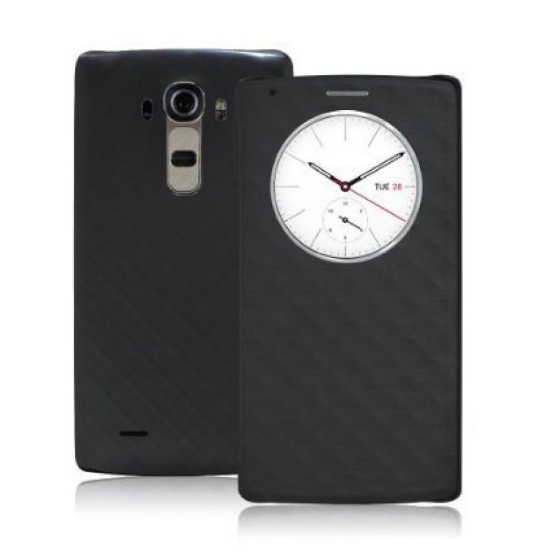 Quick-Circle-LG-G4-Sensor-Flip-Cover-Black