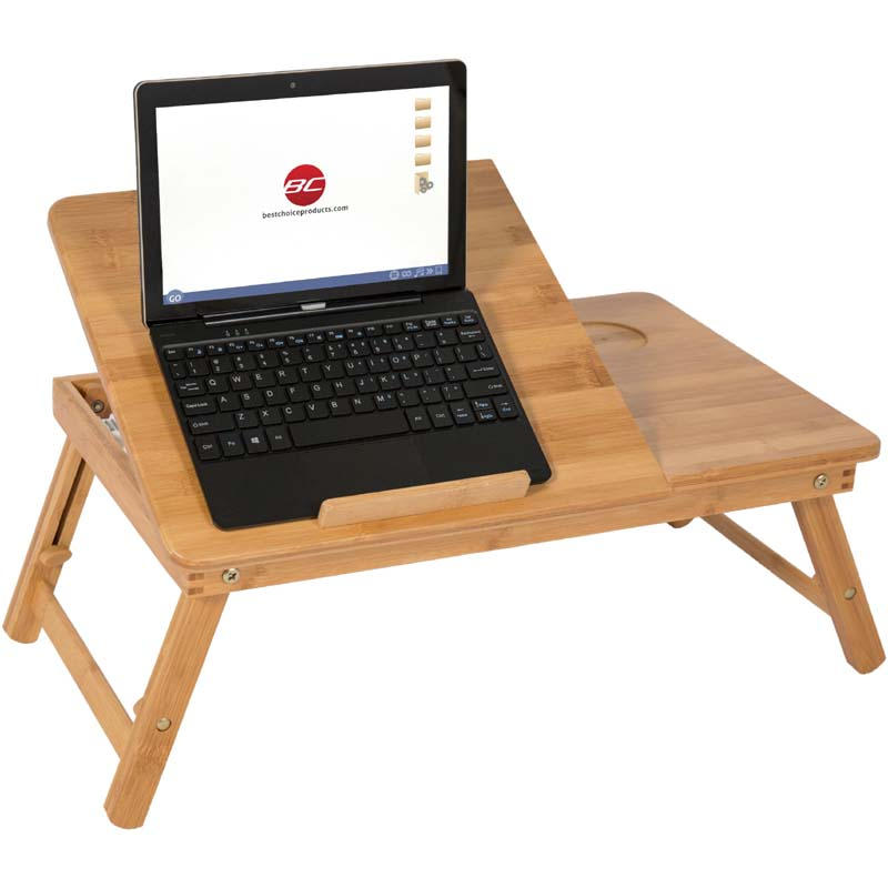 Wooden Laptop Table & Stand wih Cooling Pad