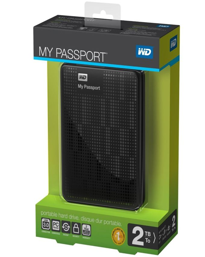 WD My Passport HDD Hard Disk 2.5 Inch Case USB 3.0