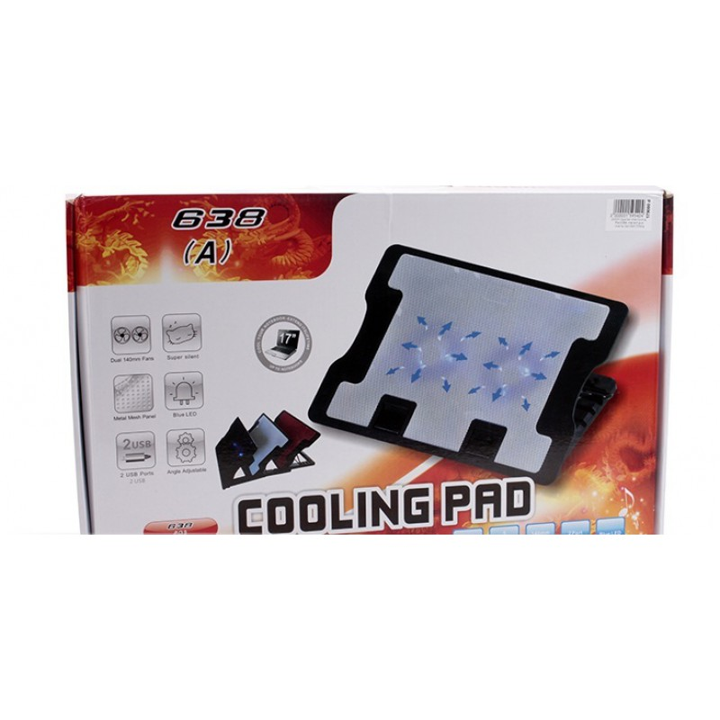 Adjustable-Notebook-Cooling-Pad-638--with-2-Fans