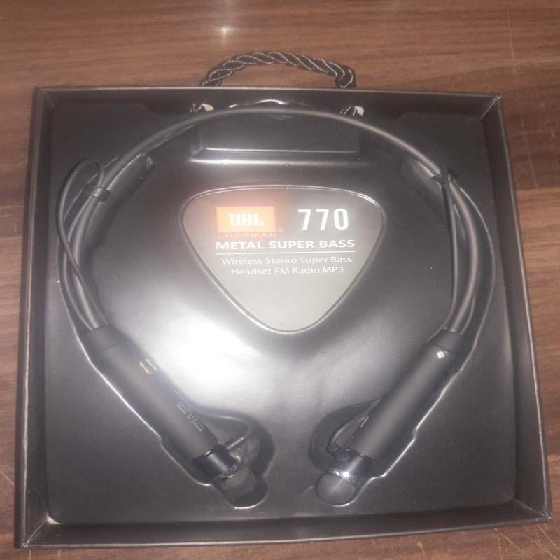 JBL 770 Wireless Bluetooth Earphones - High Quality Neckband