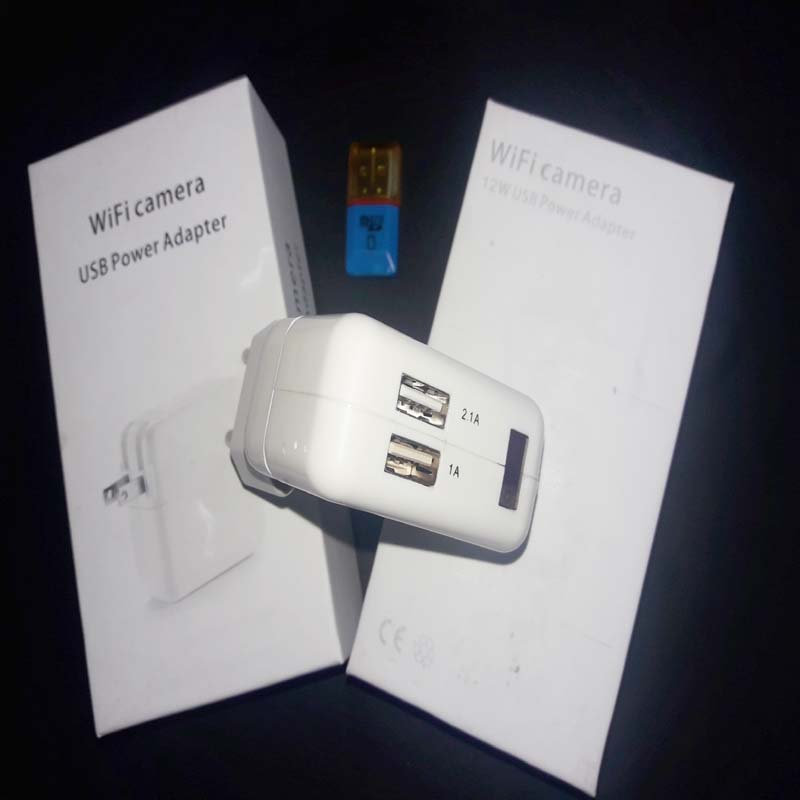 HD USB WiFi Spy, Hidden, Secrete Wall Travel Charger Camera