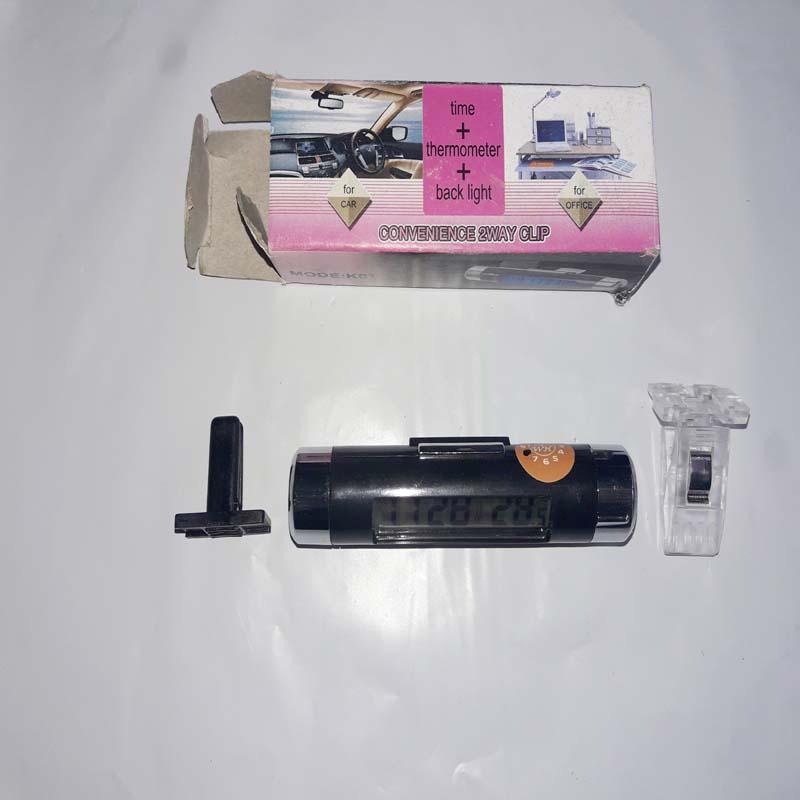 Digital Car Air Vent Thermometer Car Thermometer Clock