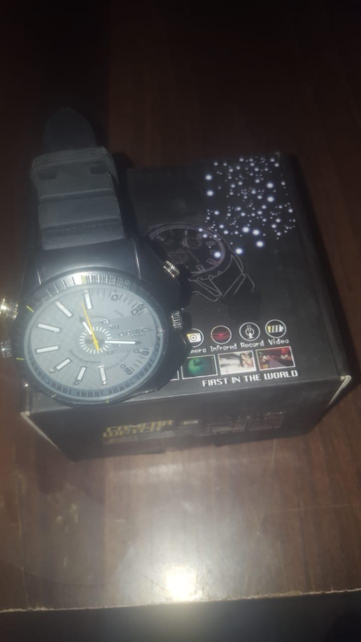 HD Video Waterproof Watch Camera IR Night Vision