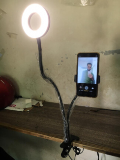 Selfie Ring Light with Cell Phone Holder Stand-Vloggers