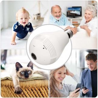 Wi-Fi Light Bulb Camera - HD 360 Degree Panoramic View
