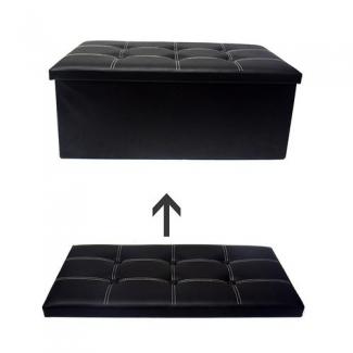 Buy Folding Storage Ottoman Coffee Table Foot Rest Stool Black In Pakistan Laptab