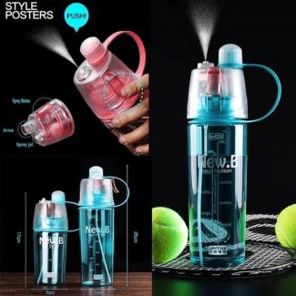 600ML Water Bottle Portable Bottle Sport Spray Water Bottle