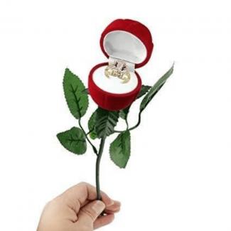 Red Rose Ring Display Box