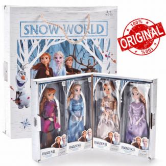 4pcs Frozen Anna Elsa Doll Set 30cm