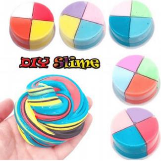 4 Colors Fluffy Slime Kit – 80g